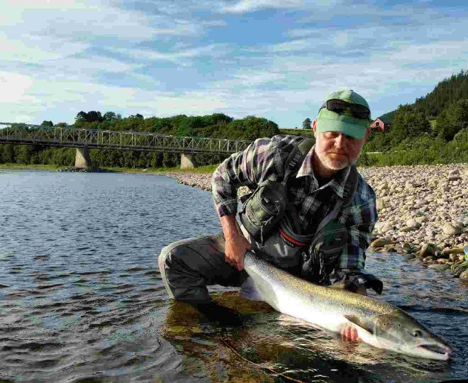Stein Erik with his big salmon from Beat E7