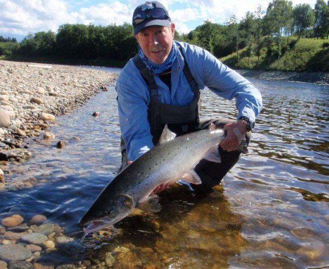 John Bleh with his salmon from Beat E7.