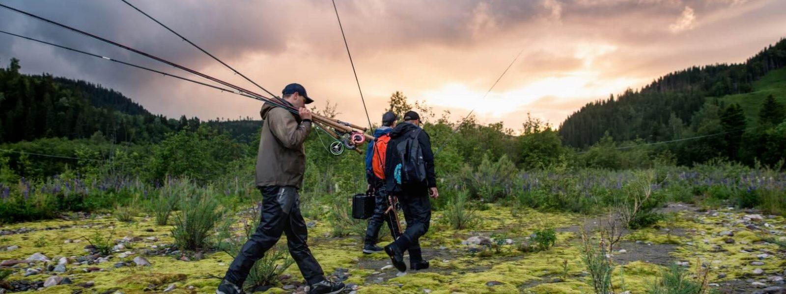 Fly Fishermen Walking