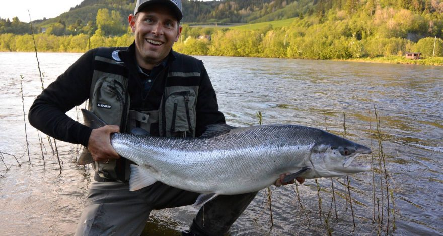 Manuel with salmon Nr. 2 from today