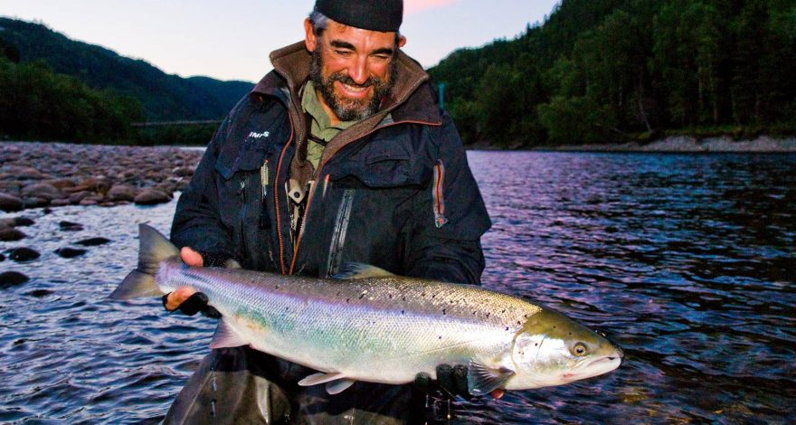 Matt Harris with his salmon from Beat G1.