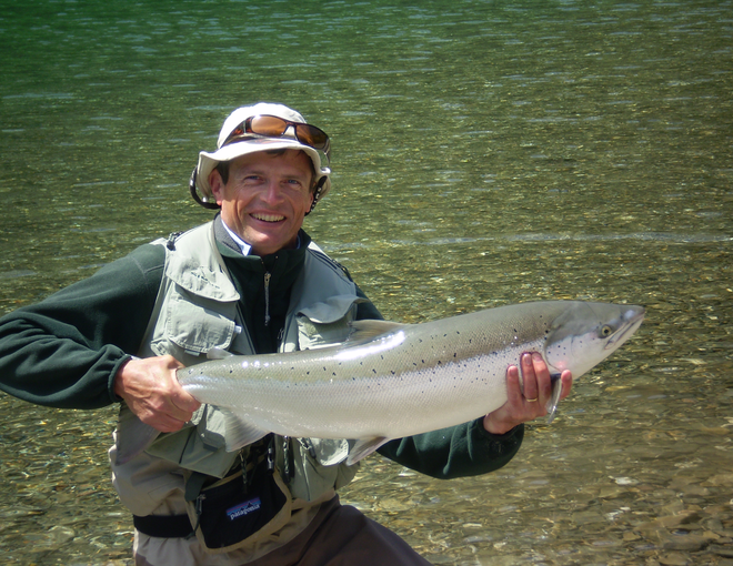 world-renowned spey caster and casting instructor Simon Gawesworth